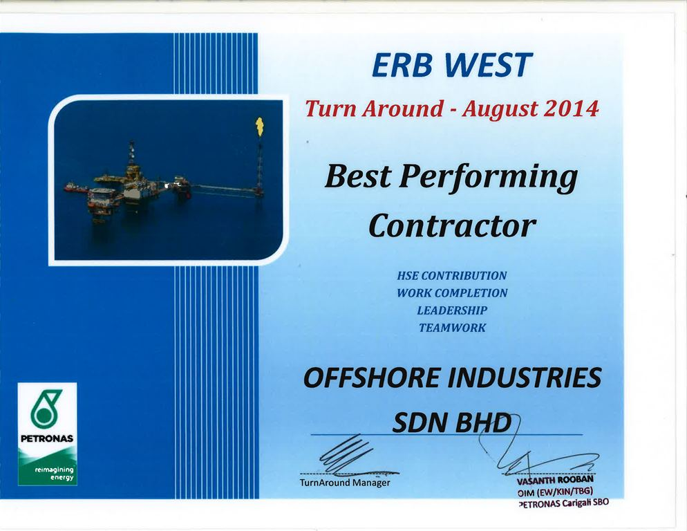 Offshore Industries Sdn Bhd Oil and Gas and Petrochemical Industry